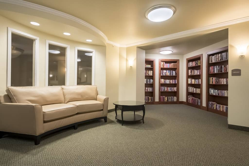 Rockwood Center senior living library