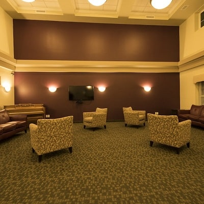Leisure area in the independent living facility at Rockwood Center
