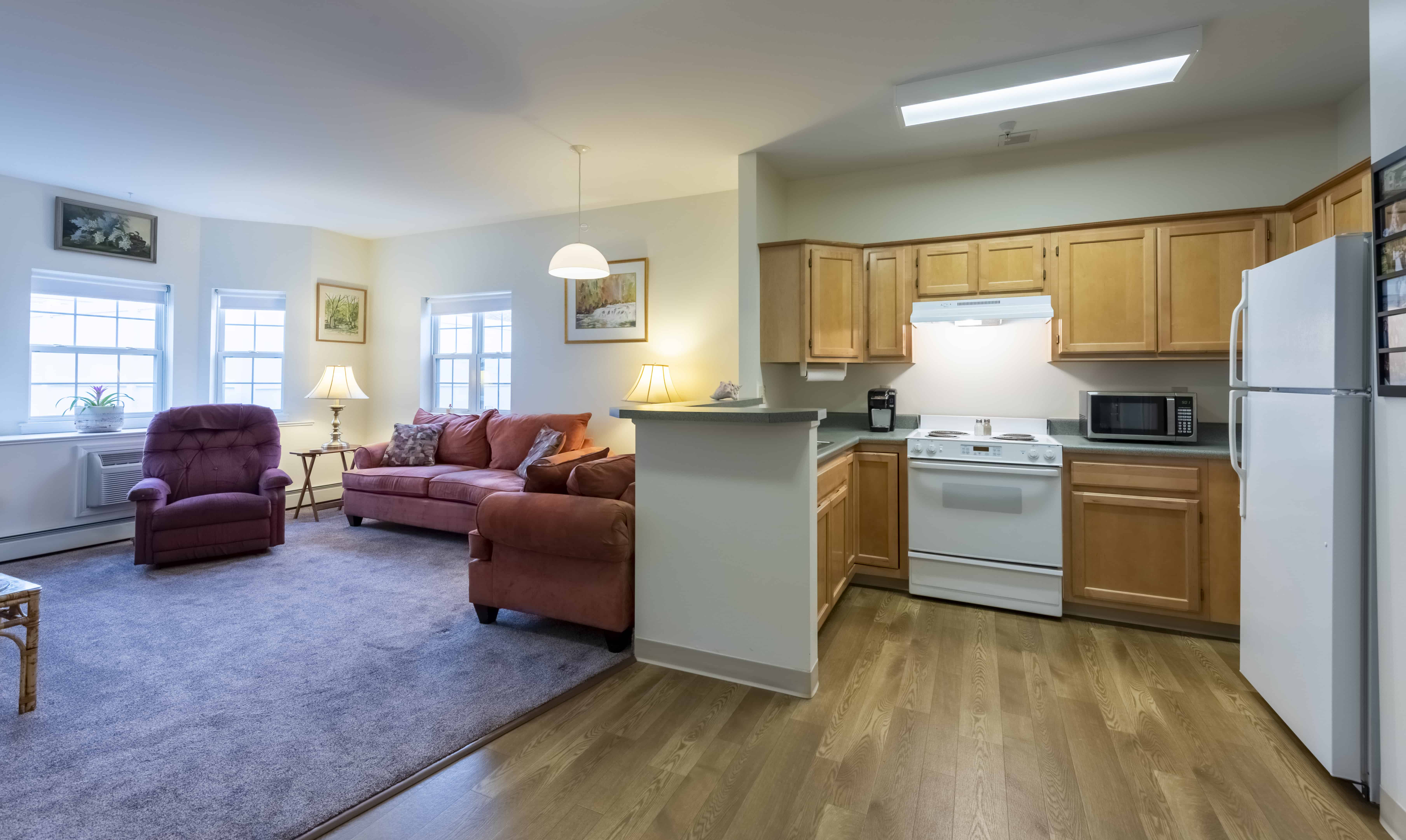 Senior apartment at the assisted living facility at Seabury Woods